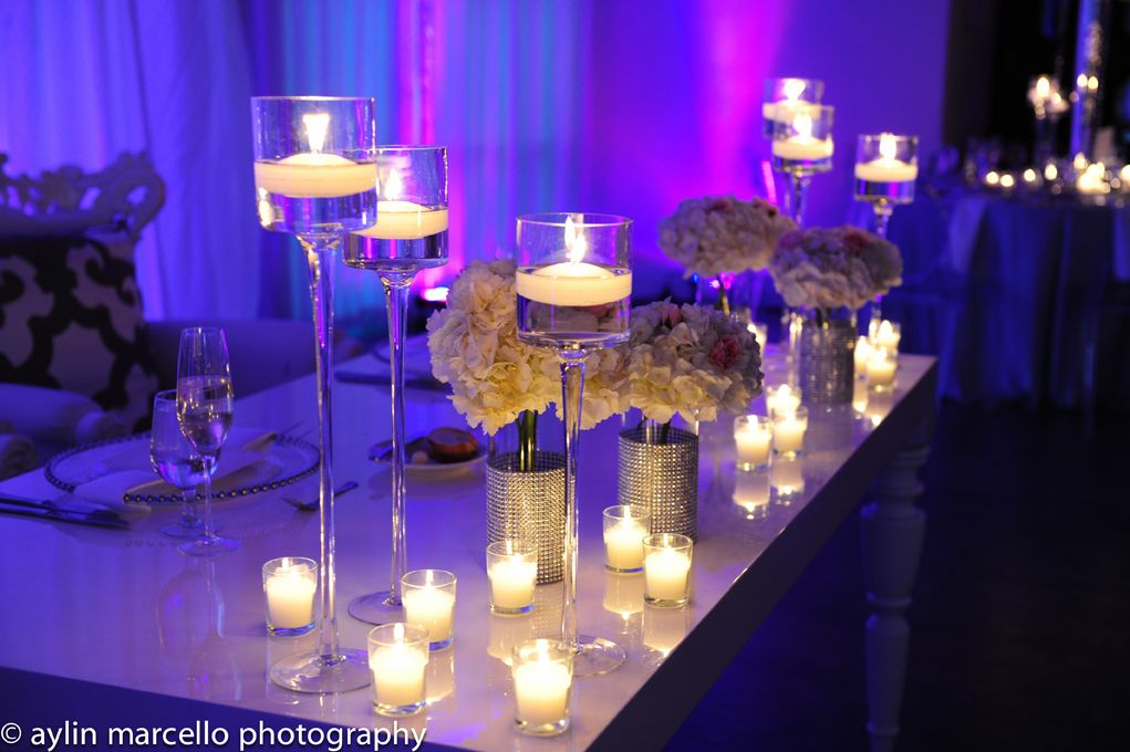 Bride And Groom Table Candle Decor
