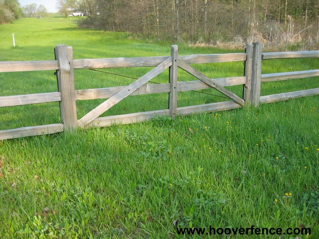Ranch fence gate use two leaves or frames for a