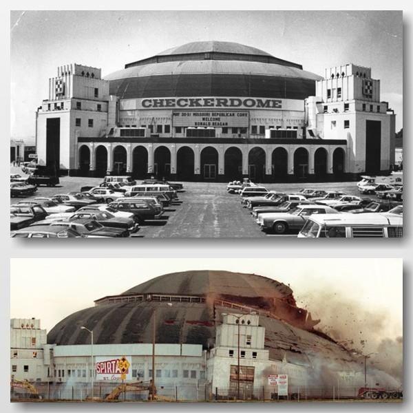 Die Arena ist vor 14 Jahren implodiert  St Louis MOMemories