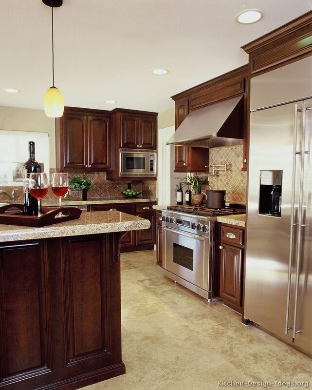 Kitchen Cabinets Cherry: Luxury Cherry Kitchen With Professional Appliances