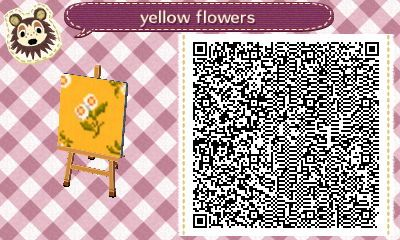 Yellow floral acnl qr code