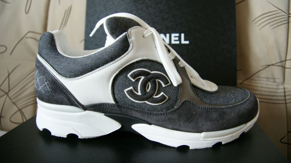 5828886c1 NIB CHANEL Cruise Grey Canvas Suede White CC Trainer Sneakers Size IT 35 -  IT 42 in Clothing, Shoes & Accessories, Women's Shoes, Athletic | eBay