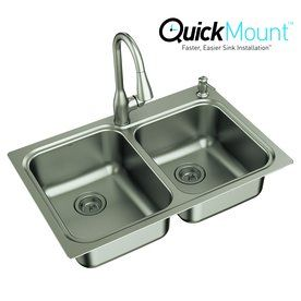Inspirational Double Bar Sink Stainless Steel
