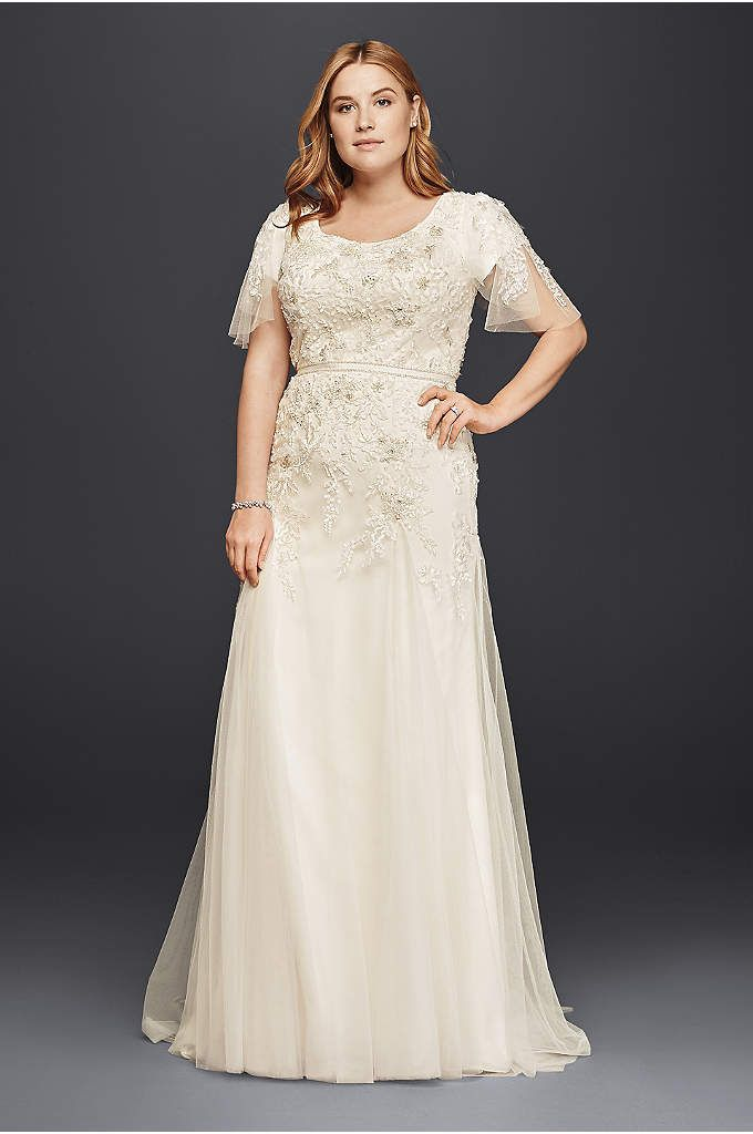 0b7a4df0e98c David s Bridal has beautiful plus size wedding dresses that come in a  variety of sizes   full figured styles for an affordable price.