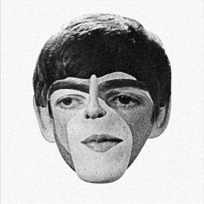 A Face Out Of Many Faces Beatles Collage Collage Design Psychedelic Art