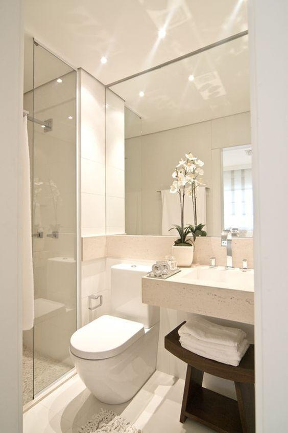 73 ideas de decoración para baños modernos pequeños 2018 | Designs