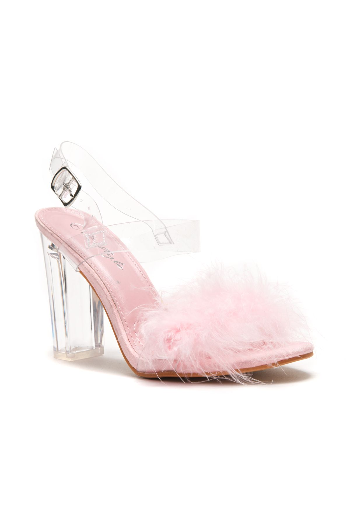 b241306f43daf HerStyle Women's Manmade Allinnaa Fluffy Fur Lucite Chunky Perspex ...