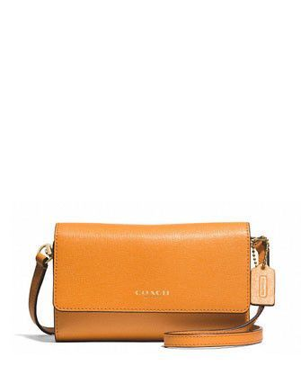 Coach Saffiano Leather Phone Case Crossbody Bag