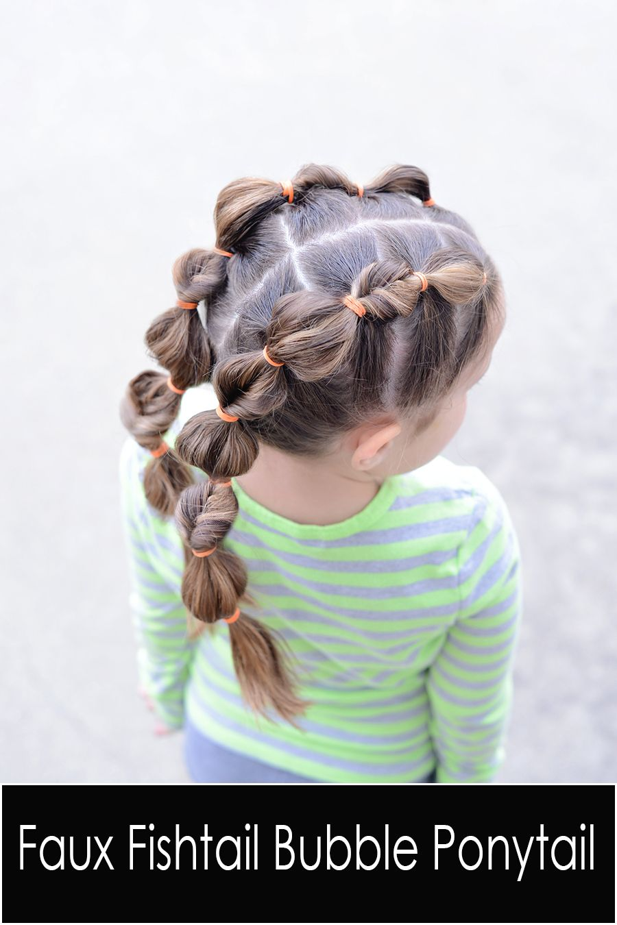 Create a faux fishtail bubble braid this is a cute hairstyle for a