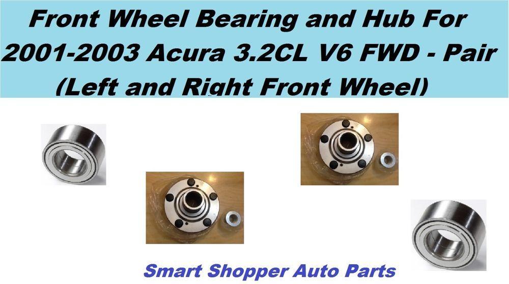 AWD, JAPAN PAIR 2008-2013 TOYOTA HIGHLANDER FRONT Wheel Hub /& Bearing Kit