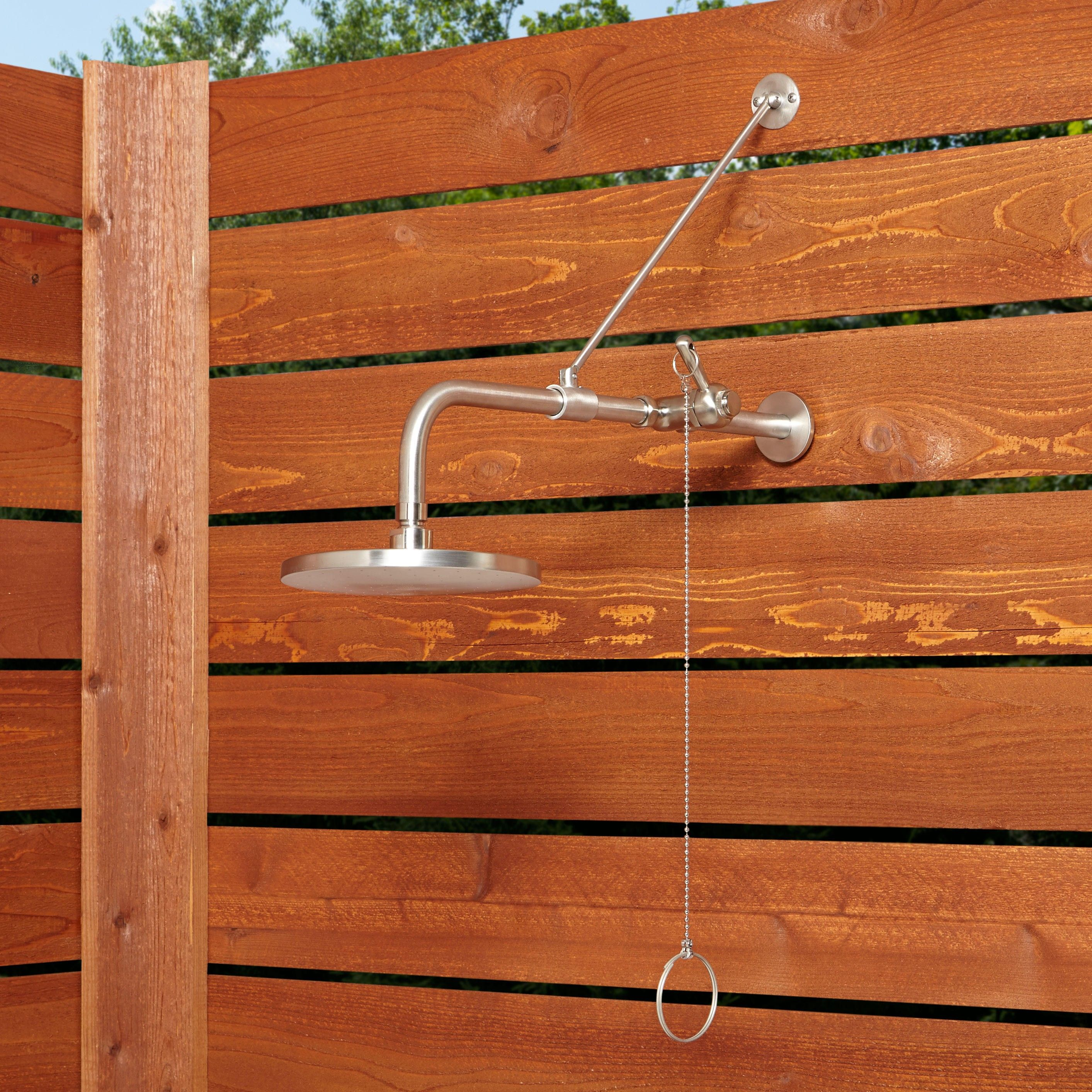 Pull Chain Shower Beauteous Stainless Steel Pull Chain Wallmount Outdoor Shower  Wall Mount Decorating Design