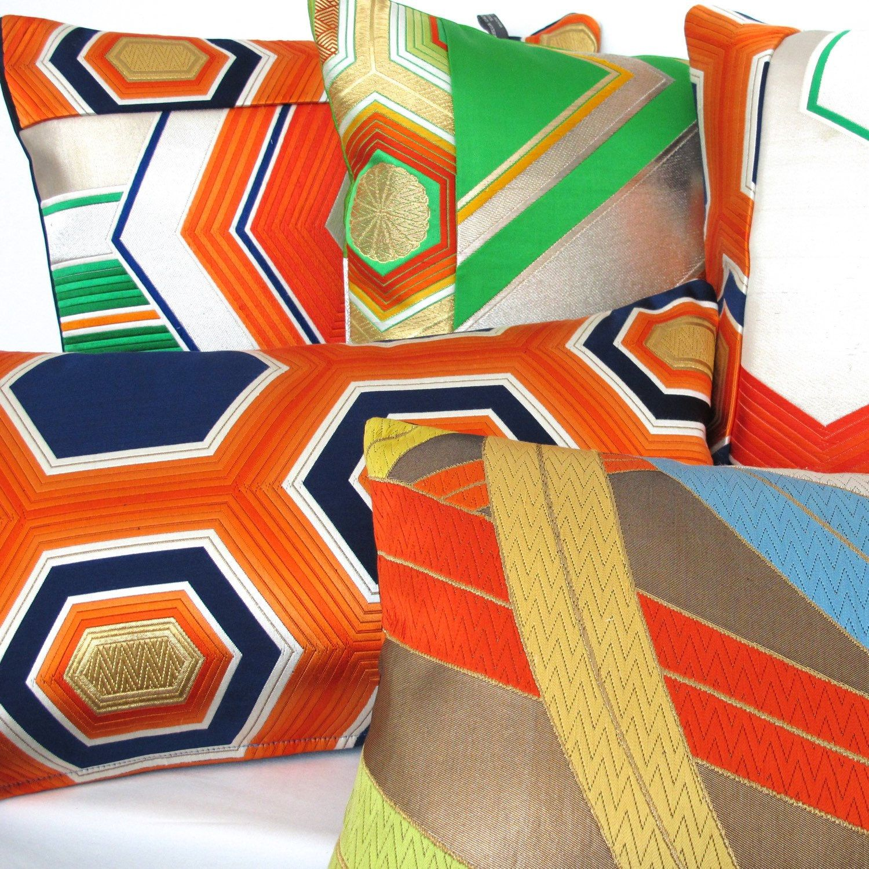 Designermaker of luxury cushions in rare by beccacadburydesign