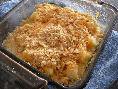 Kitchens Are Monkey Business: Rosie Makes A Pineapple Casserole. #pineapplecasserole