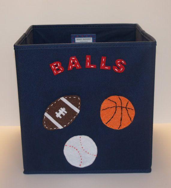 Charmant Kids Storage Bin Storage Basket Playroom Storage By KissyMonster, $30.00