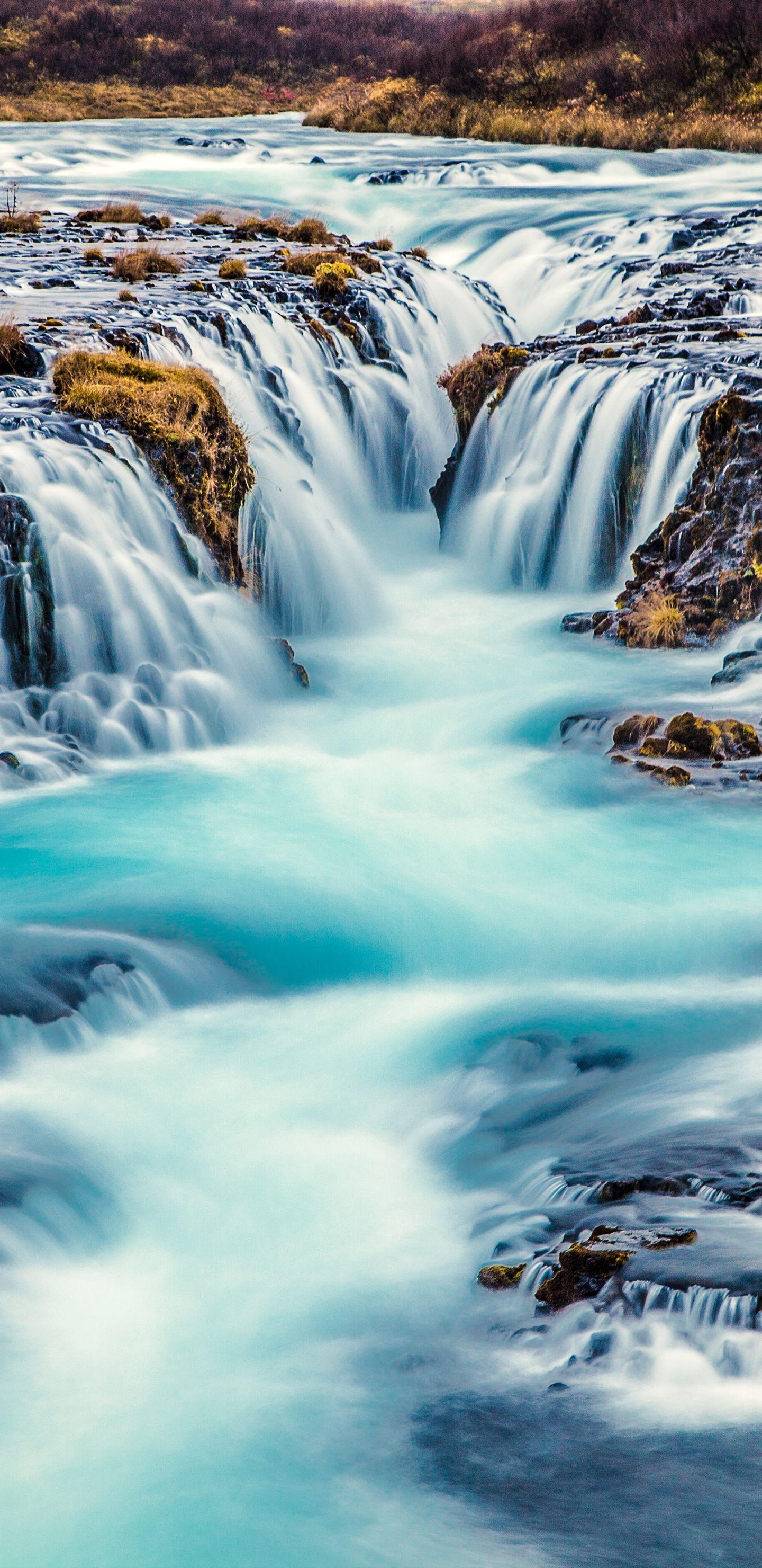 bruarfoss waterfall iphone
