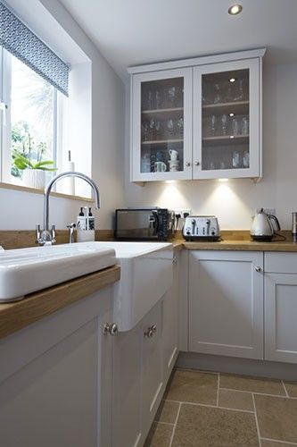Beautiful Belfast sink set-up in this Chalkhouse Interiors kitchen ...