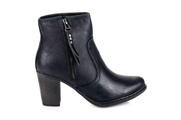 Juliet Jesienne Buty Damskie Czarne Ankle Boot Shoes Boots