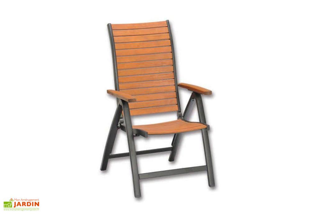 chaise de jardin pliante en bois d