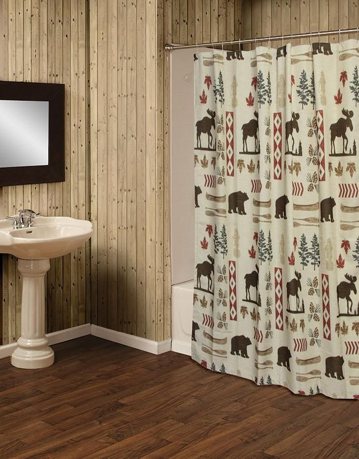 North Woods Moose And Bear 5 Piece Bath Set Log Home Bathrooms