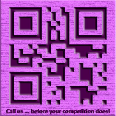 This variation of my QR Code features texture in addition to beveling.