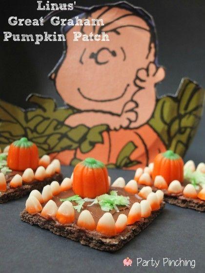 Easy Halloween graham cracker pumpkin patch treat tutorial - halloween party ideas for kids food
