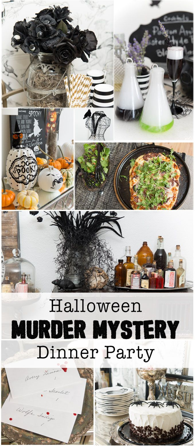Beautiful Mystery Dinner Party Ideas Part - 8: Halloween Murder Mystery Dinner Party