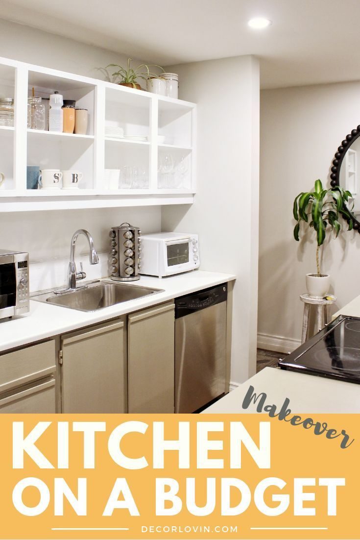 Home kitchen makeover on  seriously tight budget see how  completely transformed my for under also before and after interior rh pinterest