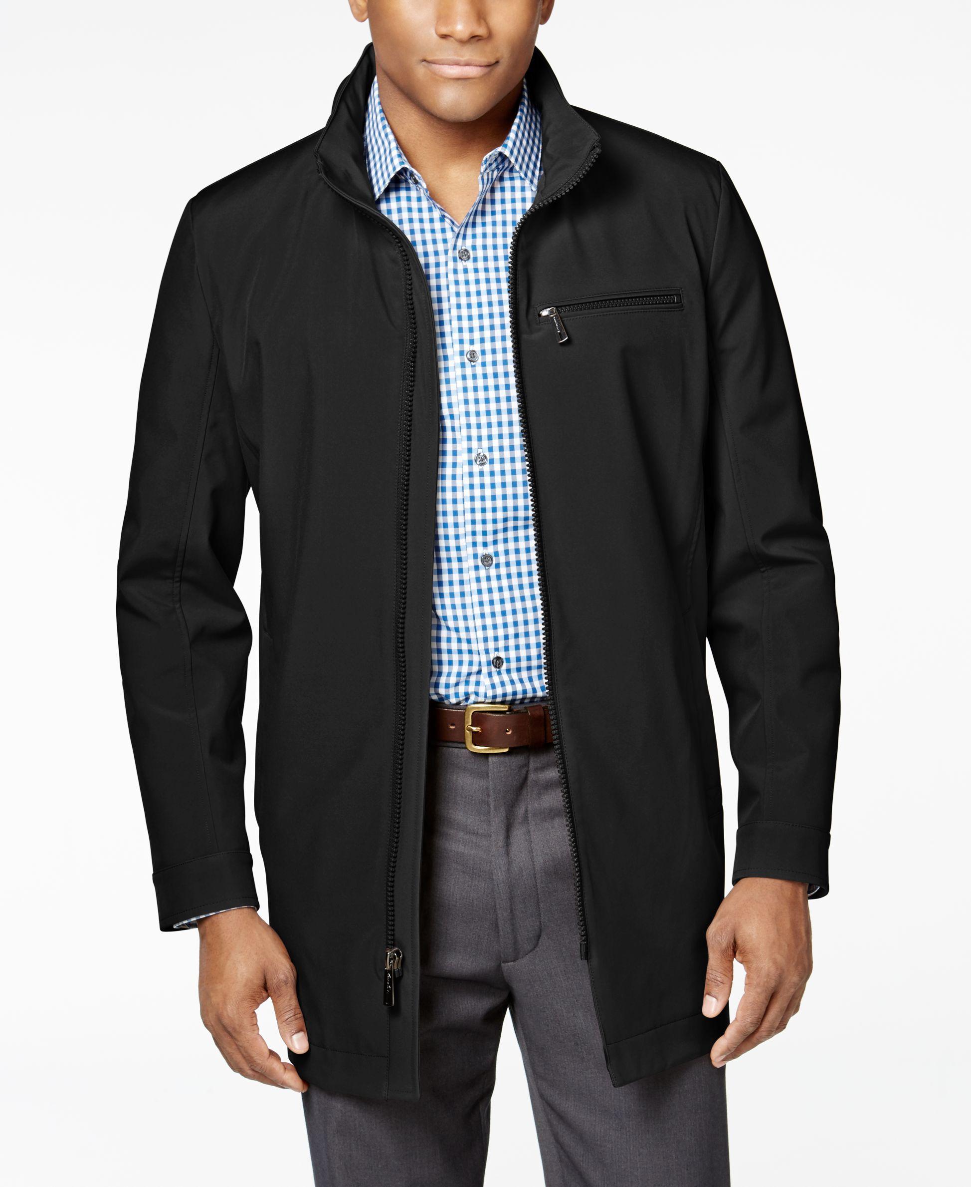 Kenneth Cole New York Men's Full-Zip Stand-Collar Coat