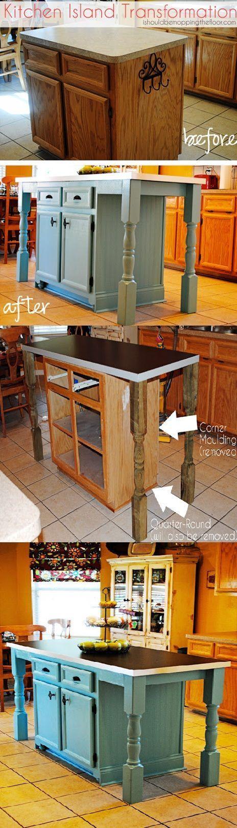 Kitchen Island Transformation Diy Kitchen Island Diy Kitchen Home Diy