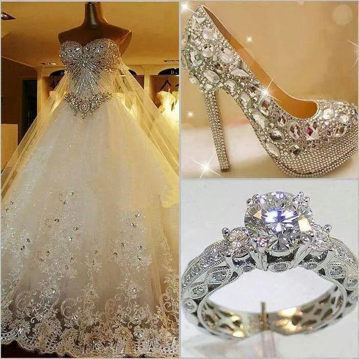 Bedazzled wedding dress | Wedding dresses & more | Pinterest ...