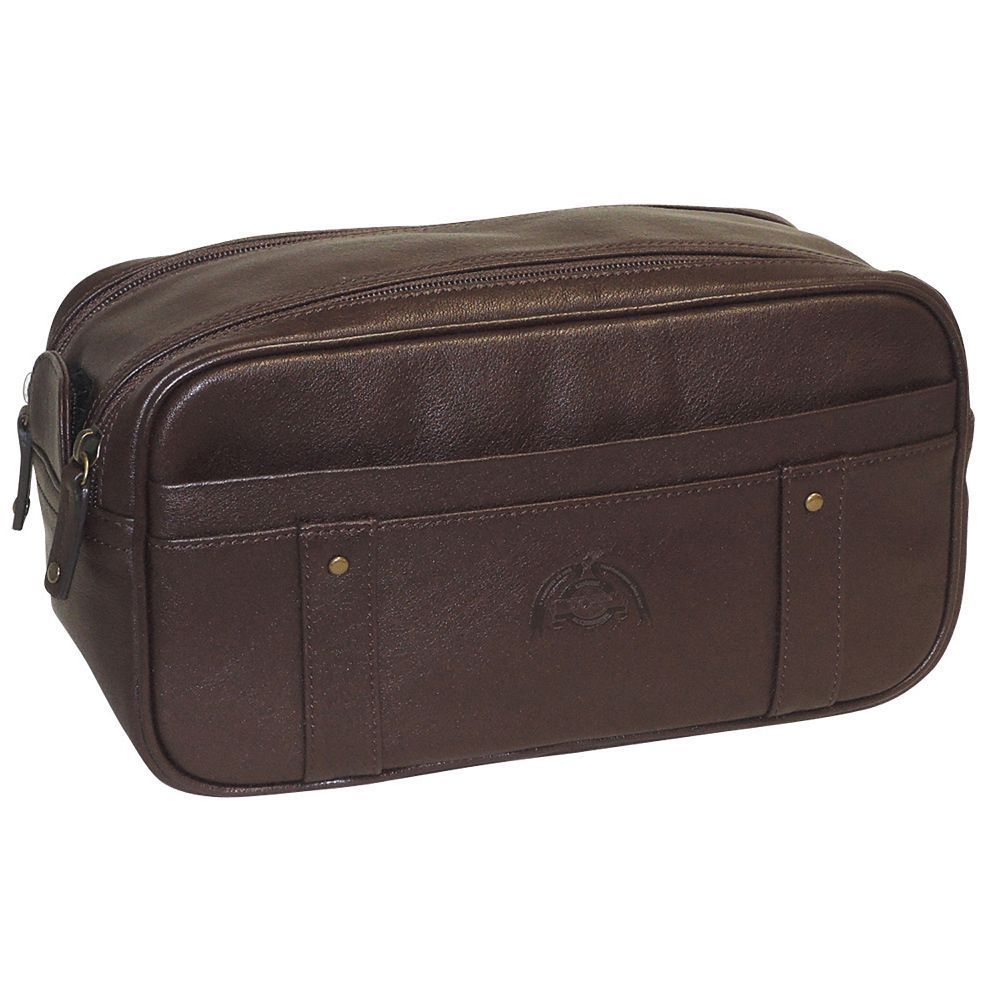 Dopp SoHo Double-Zip Travel Kit, Brown