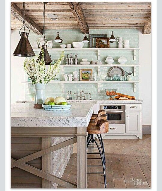 love this kitchen the brick color down to the barstools cool rh pinterest co uk