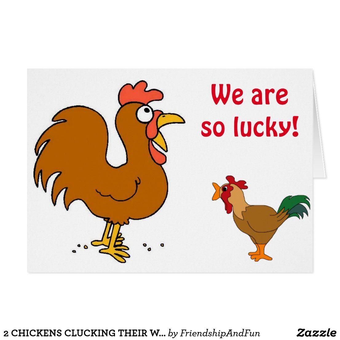 2 chickens clucking their wishesmutual birthday card greeting 2 chickens clucking their wishesmutual birthday card kristyandbryce Gallery