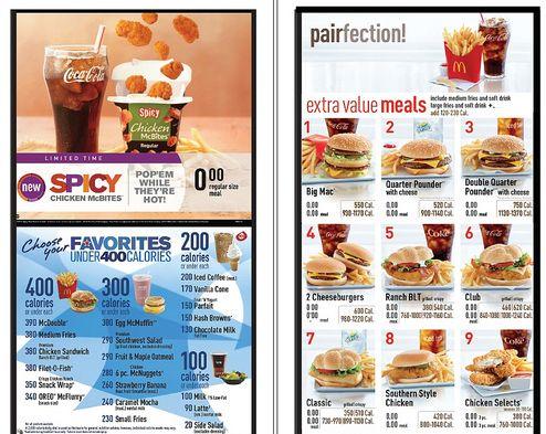 Mcdonald S Rolls Out Calorie Counts On Us Menus Mcdonalds Calories Mcdonald Menu Calorie Counting