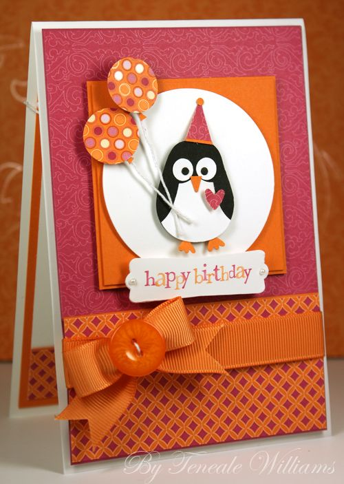 Cute Penguin Christmas Cards Kids Birthday Cards Punch Art Cards Creative Cards