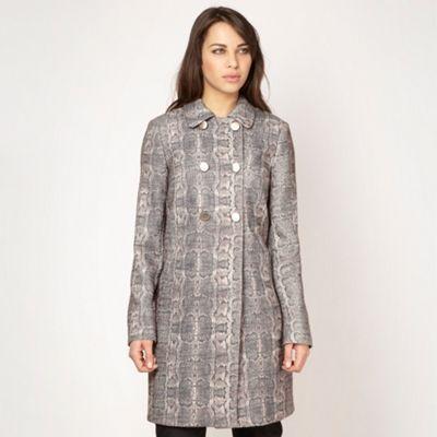 Designer beige mock snakeskin coat at debenhams.com
