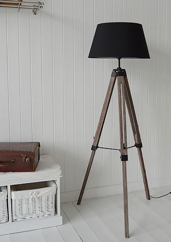 Lights Tripod Floor Standing Lamp New England Style