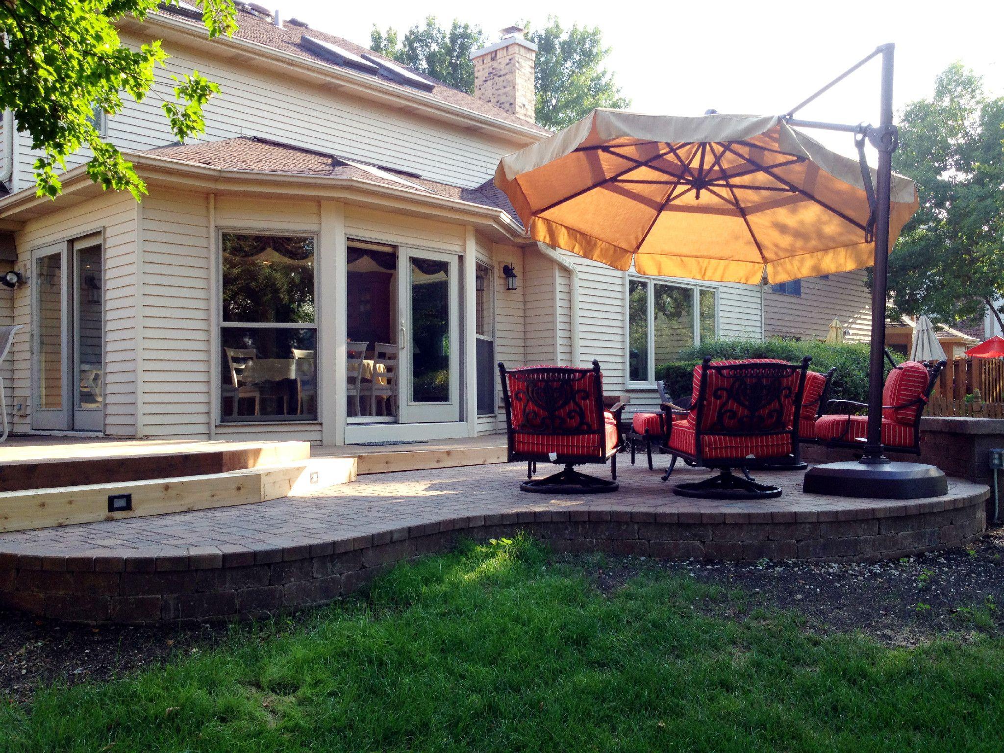 Raised Patio Design by Elmhurst IL Patio Builder