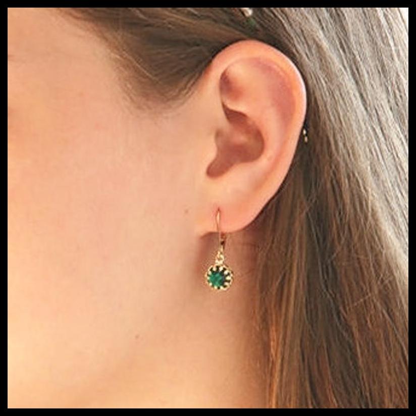 Emerald earring,Gold earrings,dangle gold earrings,dainty earrings green emerald earrings,gift for women,delicate earrings.silver earrings