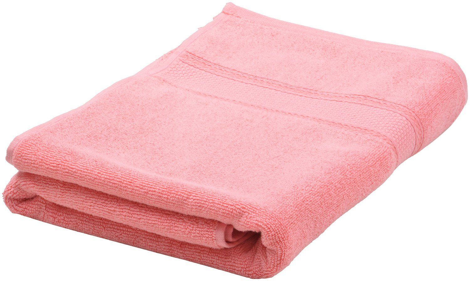 Buy HOMEWAY 620 GSM 2-Piece Cotton Bath Towel - Salmon Rose Online at Low Prices in India - Amazon.in