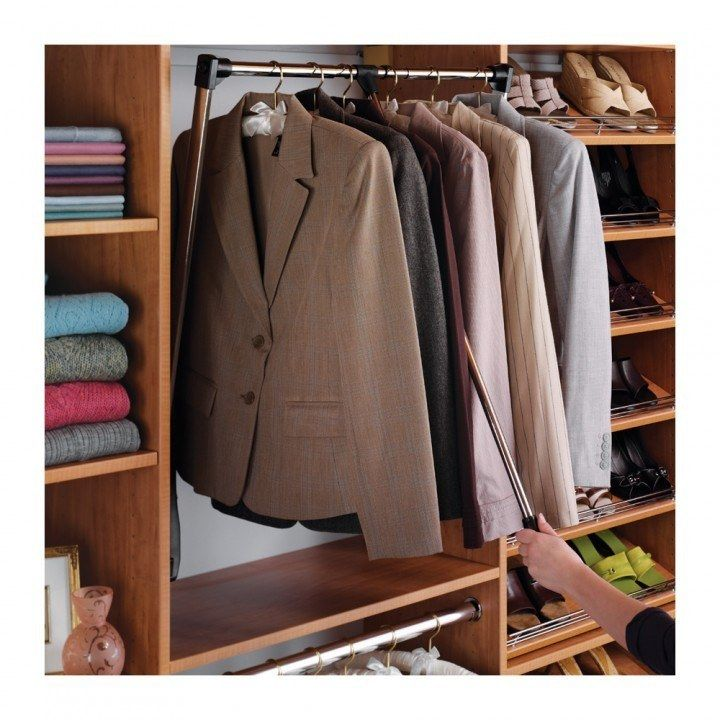 Hafele Pull Down Wardrobe Rails Chrome With Black Lift Closet Rod Closet Rods Wardrobe Rail