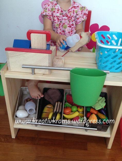 Spielzimmer selber bauen  DIY Kaufladen Minishop | Pinterest | Ikea regal, Kaufladen und ...