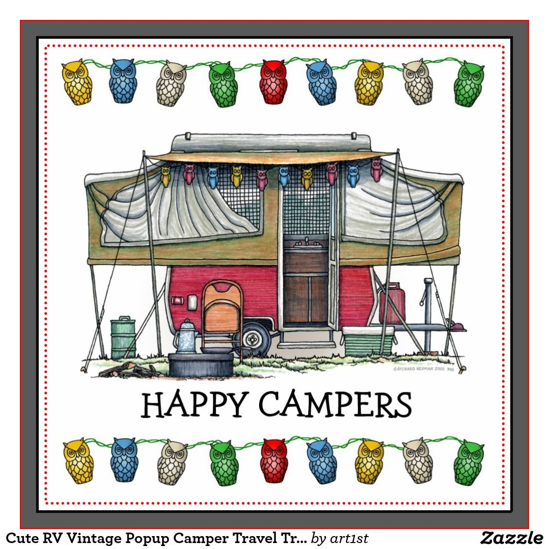Camping camper. With pop up clip