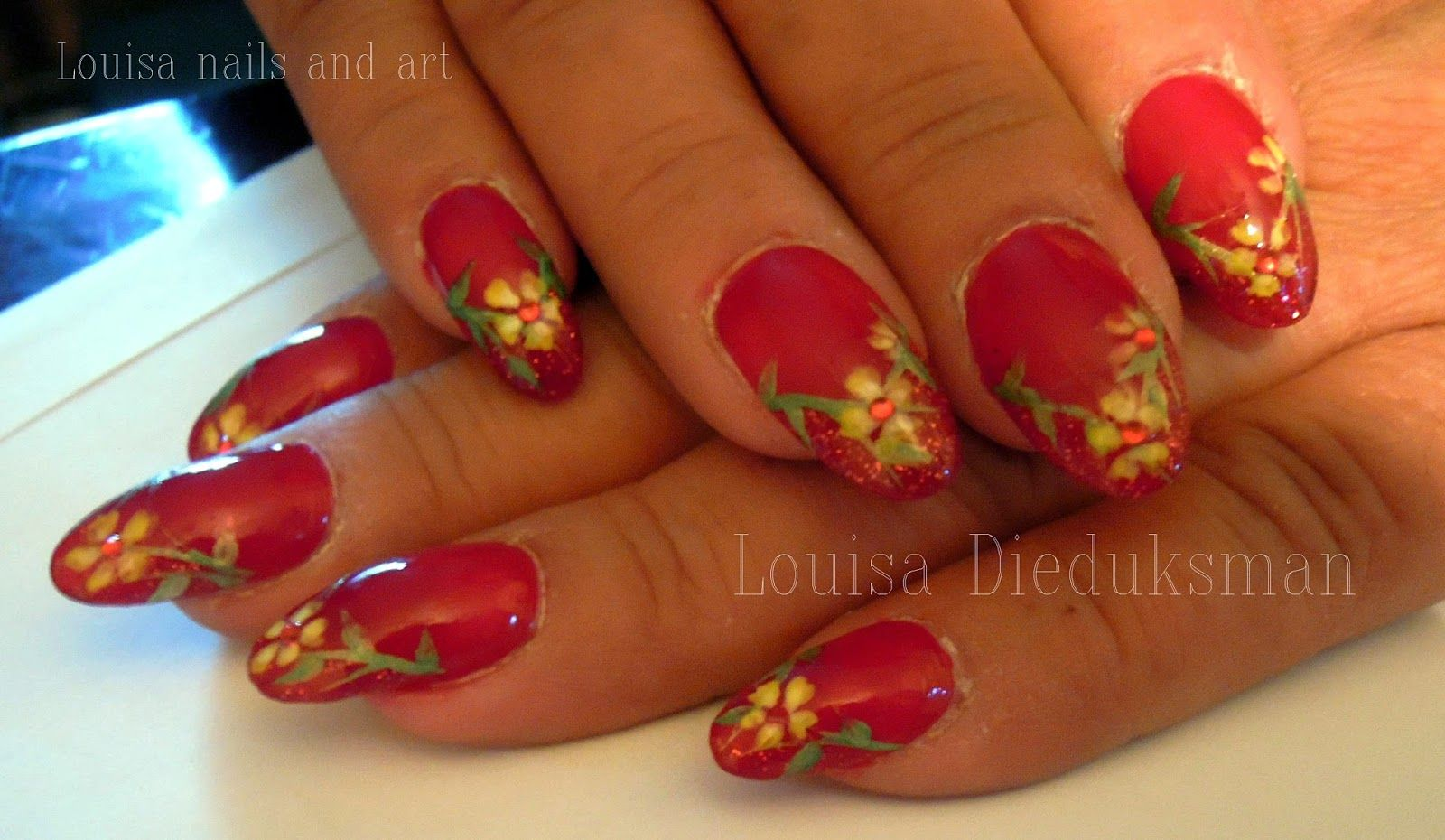 Louisa Nails And Art Psychedelic Rainbow Flowers Nails Flower