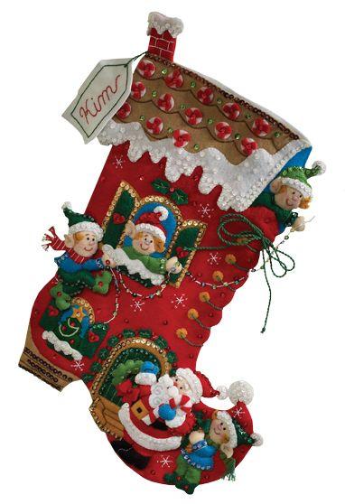 Holiday Decorating Bucilla Christmas Stocking Kit | Botas navideñas ...