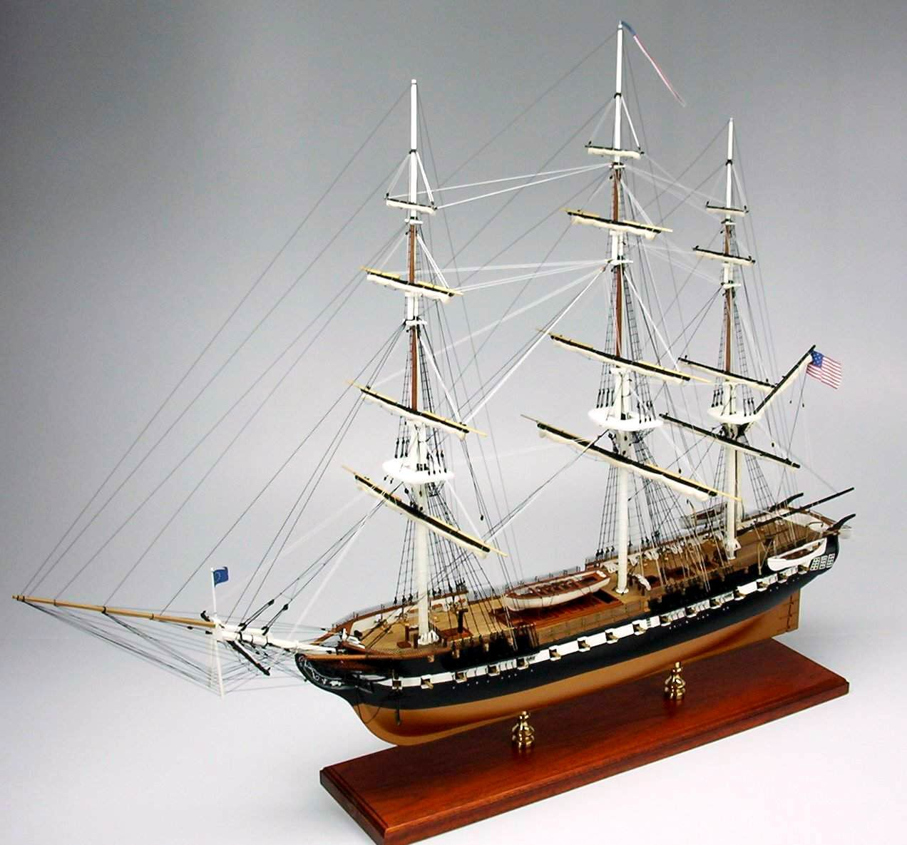 Scale Replica of USS Constituion. Available from SD Model Makers