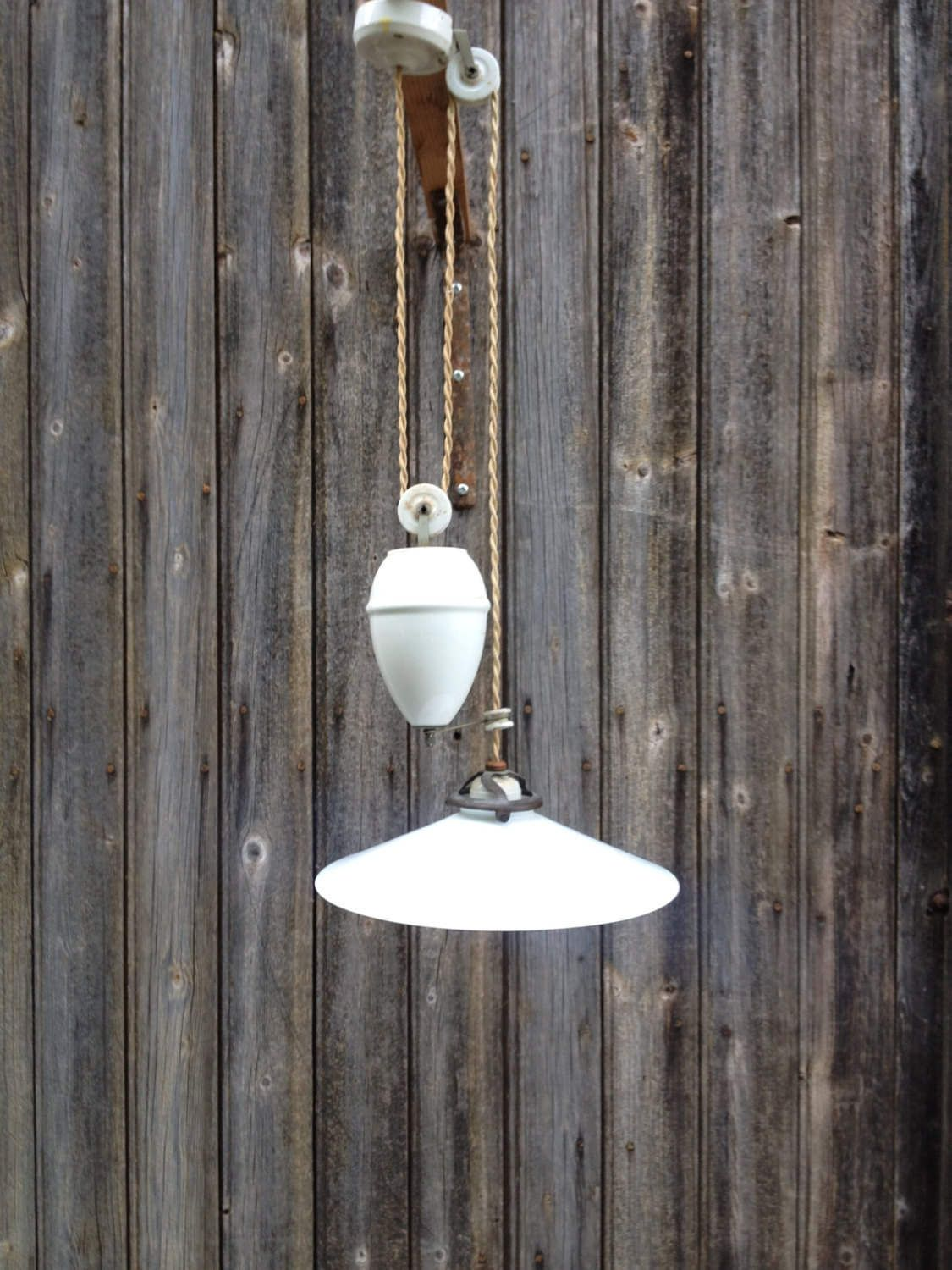 Lampe Opaline Blanche French Vintage Ceiling Light Of 1920 Kitchen Light With Levelling