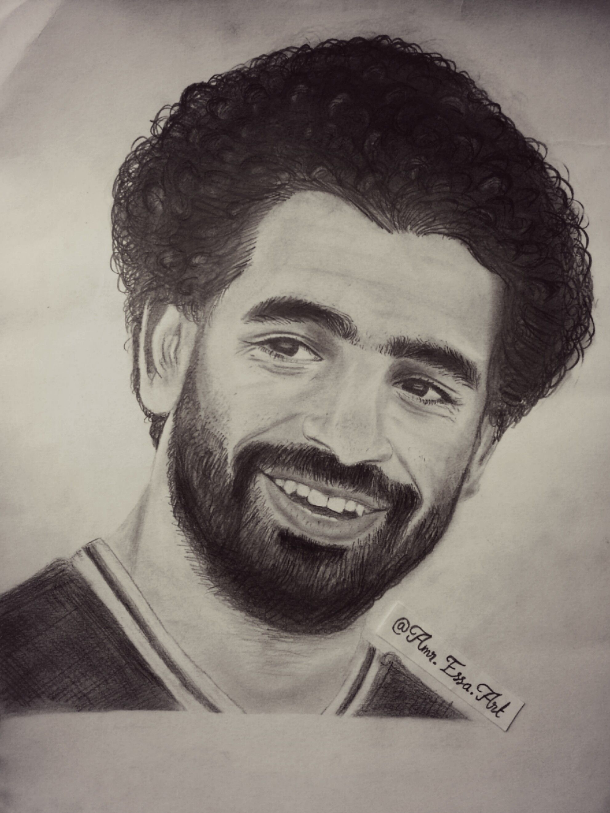 Mohamed salah pencil art drawing portrait check these https www