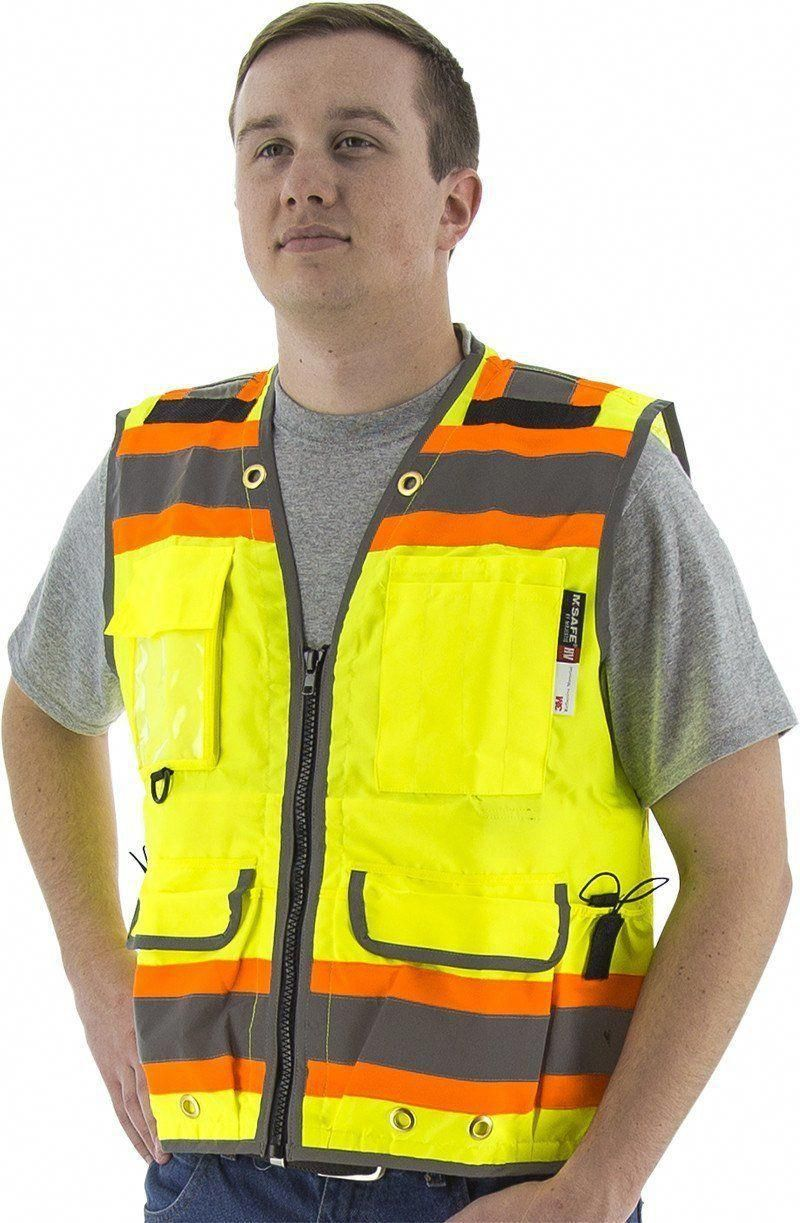 ANSI Class 2 Compliant Safety Vest. High visibility with