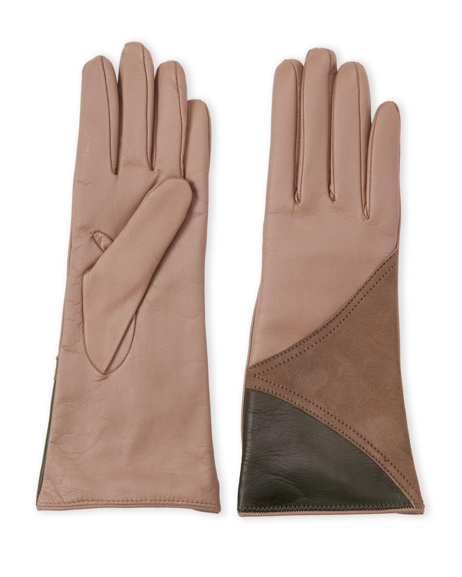 8991da032b7 Color Block Leather Gloves in 2019